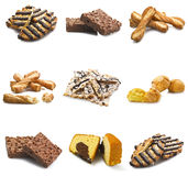 Collage of biscuit Royalty Free Stock Photos