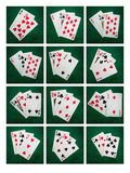 Collage Blackjack Twenty One Stock Images