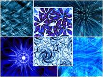 Collage bleu Images libres de droits