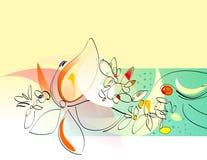 collage blommar den gladlynt fjädern Royaltyfria Bilder