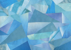 Collage of blue paper Stock Photos