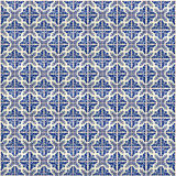 Collage of blue pattern tiles in Portugal Stock Photography