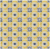 Collage of blue pattern tiles in Portugal Stock Image