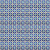 Collage of blue pattern tiles in Portugal Royalty Free Stock Photography