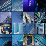 Collage, blue Stock Photography