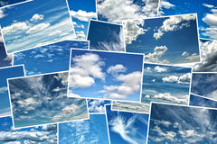 Collage of blue sky Stock Images