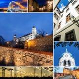 Collage of Bratislava, capital of Slovakia Stock Photos