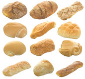 Collage of bread. On the white Royalty Free Stock Photo