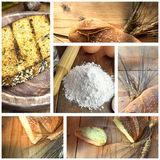 Collage bread Royalty Free Stock Photos