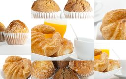 Collage of breakfast Royalty Free Stock Photography