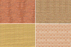 Collage. Brick wall Stock Images