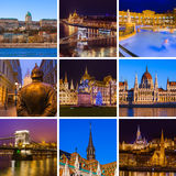 Collage of Budapest Hungary travel images my photos Stock Photo
