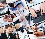 Collage of business Stock Images