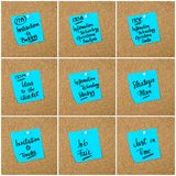 Collage of Business Acronyms written on paper note royalty free stock photo