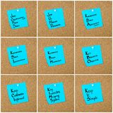 Collage of Business Acronyms written on paper note Stock Photography