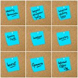 Collage of Business Acronyms written on paper note Royalty Free Stock Photos