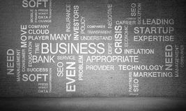 Collage of business conceptual words. Stock Photo