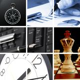 Collage of business or finance Stock Images
