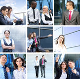 A collage of business images with young people Stock Image