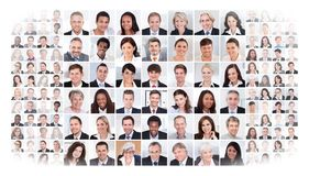 Collage of business people Stock Photo