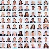 Collage of business people smiling royalty free stock photos