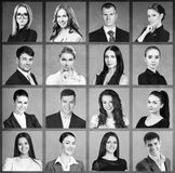 Collage of business people in square. royalty free stock photos