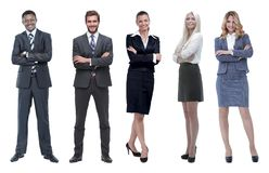 Collage of business people on white background royalty free stock photography