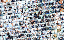 Collage from business picture Royalty Free Stock Images