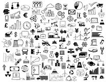 Collage of business symbols Royalty Free Stock Image