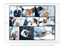 Collage of business teams Stock Images