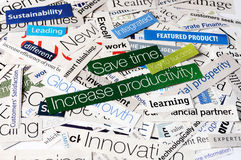 Collage  business time Royalty Free Stock Photos