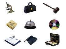 Collage of Business tools Royalty Free Stock Images