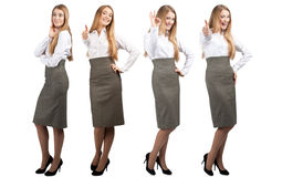 Collage of business woman in different poses Royalty Free Stock Image