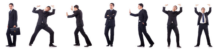 The collage of businessman isolated on white Royalty Free Stock Photography