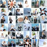 Collage of young business people Royalty Free Stock Photo