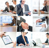 Collage of businesspeople in the office Stock Photo