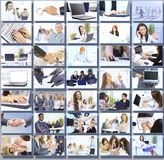 Collage with businesspeople working together Stock Image