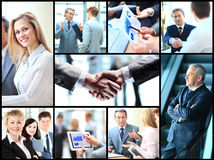 Collage with businesspeople Stock Photos