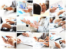 Collage with businesspeople working Royalty Free Stock Photos