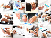 Collage with businesspeople working Royalty Free Stock Images