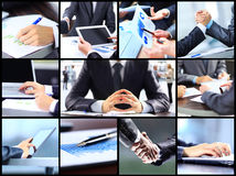 Collage of businesswoman hands Royalty Free Stock Images