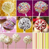Collage with cake pops Royalty Free Stock Image