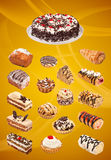 Collage of cakes Stock Photos