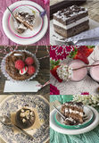 Collage of cakes Royalty Free Stock Photos