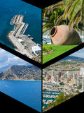 Collage of Calpe, Costa Blanca, Spain Stock Photos