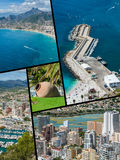 Collage of Calpe, Costa Blanca, Spain Royalty Free Stock Images