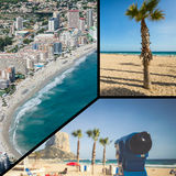 Collage of Calpe, Costa Blanca, Spain Stock Photography