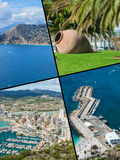 Collage of Calpe, Costa Blanca, Spain Stock Image