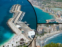 Collage of Calpe, Costa Blanca, Spain Royalty Free Stock Image
