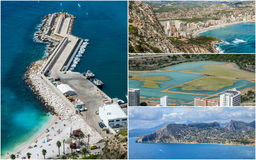 Collage of Calpe, Costa Blanca, Spain Royalty Free Stock Photos